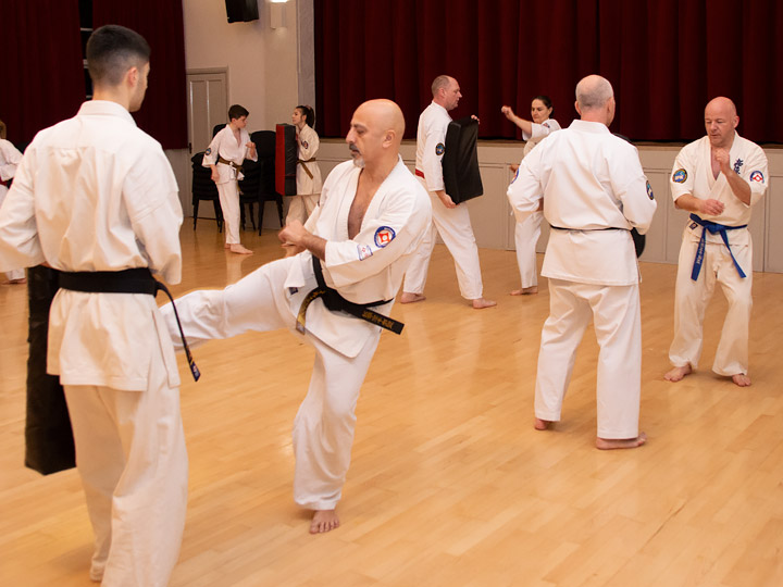 Karate training in Dunmow